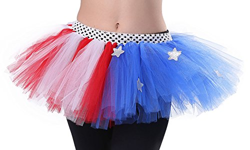 [Tutu Dreams 4th of July Tutu (Patriotic)] (Very Funny Costumes)