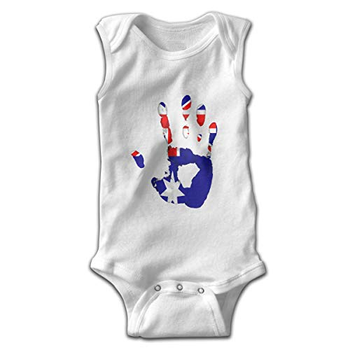 Sahaidak Baby Boys' Girls' Cotton Bodysuits Australia Handprint Flag Sleeveless Romper Onesie Jumpsuit
