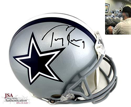 (Tony Romo Autographed/Signed Dallas Cowboys Authentic Helmet)
