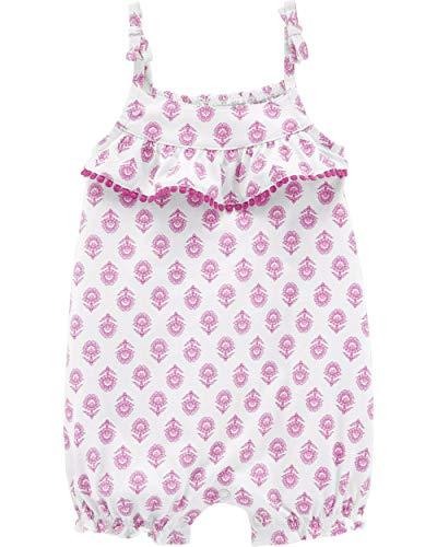 Carter's Baby Girls' 1-Piece Romper (6 Months, Purple/Geo - Ridge Collection Maple