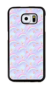 Samsung Galaxy S6 Edge Case, Personalized Dog And Rainbow Patterns TPU Hard Cover Case for Samsung Galaxy S6 Edge Black