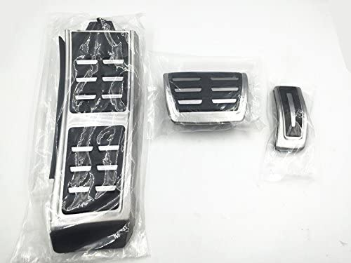 Templehorse No Drilling Fuel Brake Footrest Pedal Cover Accelerator Brake Foot Rest Pedal AT for 2009-2015 Audi A4//S4//RS4 A5//S5 Q5 A6 A7