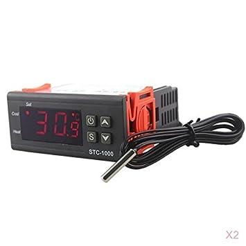 Homyl 2pcs Termostato Digital Controlador Calefacción Digital Alta Temperatura Coche