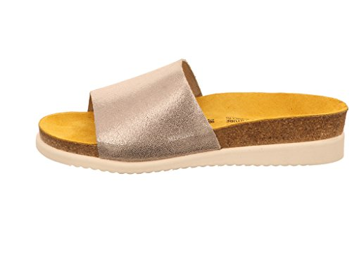 Mephisto Women (Foot Foundation) Lilac 19168 Women's Mule Sandal In Silver Leather 573 Silver etZdzyKN