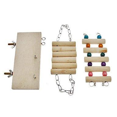 Quick shopping Flexible Wooden Toys Hamster Parred Hanging Ladder Bridge Shelf Cage