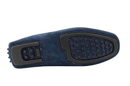 guida Tan scarpe serpente Blue Faux mensblue effetto pelle a Suede su brevetto mocassino loafer antiscivolo AwTxHWOqa