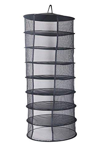 Zazzy 2ft 8 Layer Black Mesh Hanging Herb Drying Rack Dry Net