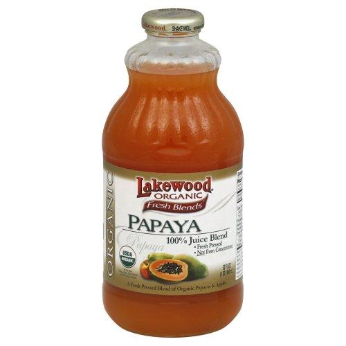 Lakewood Juice Papaya Organic 32.0 FO (Pack of 3)