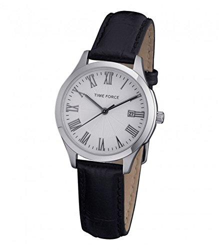 TIME FORCE Reloj Analógico para Mujer de Cuarzo con Correa en Cuero TF3305L02: Amazon.es: Relojes