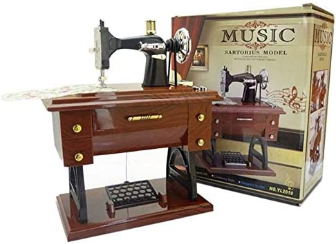 RTDUKYT Máquina de Coser única Caja de música Decoración Hogar ...