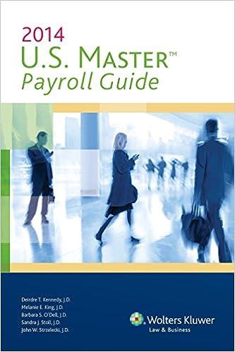 U. S. Master payroll guide, 2012 edition: 9780808028758: human.