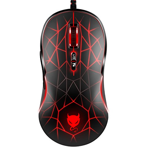 Redimp RGB Optical Gaming Mouse 4000 DPI 7...
