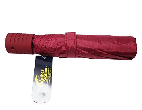 the-weather-station-42-inch-manual-fold-compact-folding-umbrella-in-dark-red