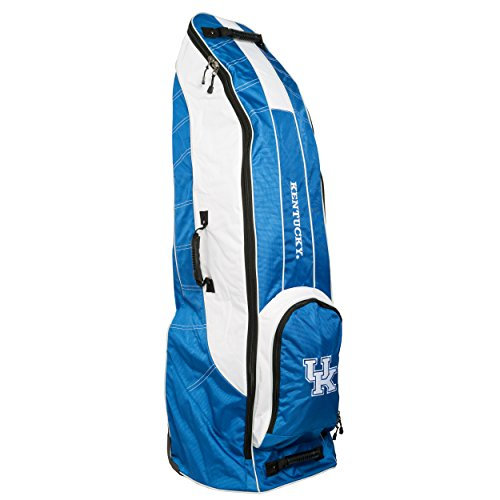 TEAM GOLF NCAA Kentucky Wildcats Travel Golf Bag, High-Impact Plastic Wheelbase, Smooth & Quite Transport, Includes Built-in Shoe Bag, Internal Padding, ID Card Holder