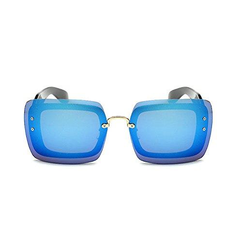 Aoligei Europe et les États rétro cadre généreux centaines miroir mercure surface film lunettes de soleil mode marée hommes et femmes N lunettes de soleil D