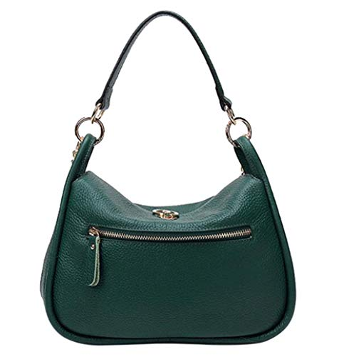 FairyBridal Handbags Bags Crossbody Purse Lychee Genuine for Handle Line Leather Hobo Women Top Green 4rqwHx4f