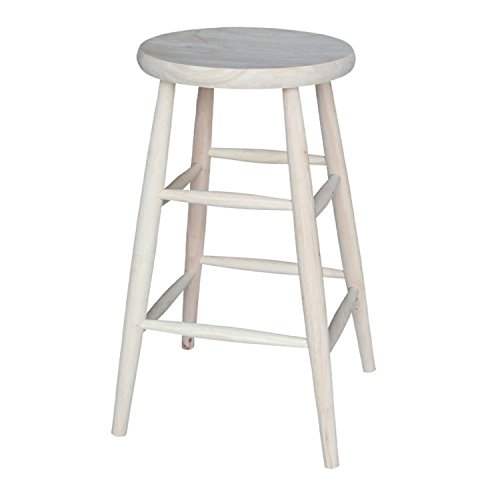 International Concepts 1S-830 30-Inch Scooped Seat Stool, Unfinished