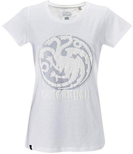 GOZOO Game of Thrones T-Shirt Damen Winds of Winter - House Targaryen Weiß