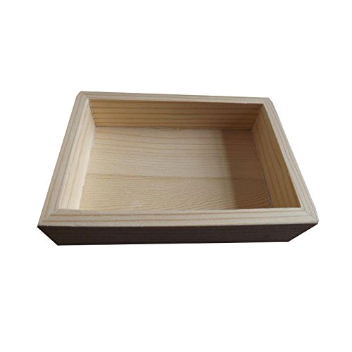 StarMall Wooden Unfinished Paintable Serving Tray Art Supply 4-1/5 by 2-3/4 by 9/10 -