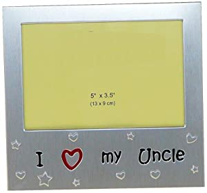 i love my uncle expressions photo picture frame gift 5 x 35 brushed aluminium satin silver color