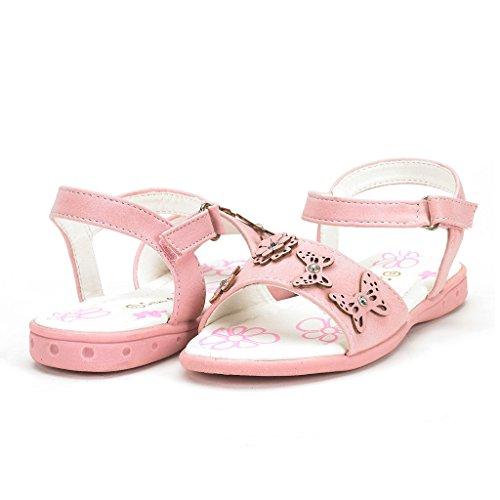 DREAM PAIRS SODA Girl's Cute Flower Toe Easy Strap Closure Spring/Summer Sandals