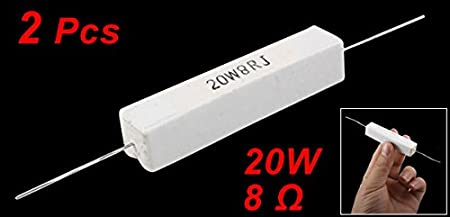 10pcs 10W 20 Ohm uxcell Wire Wound Ceramic Cement Power Resistor