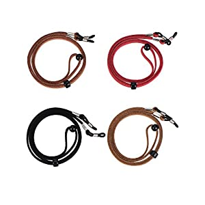 Mudder 4 Pieces Glasses Cord Eyewear Strap Eyeglass Chain with Cleaning Cloth