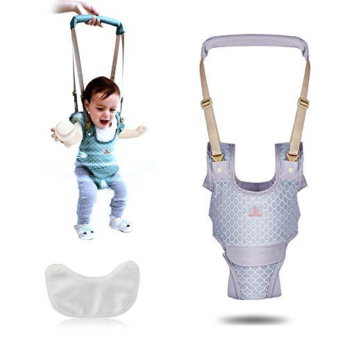 Baby Detachable Walking Harness Baby Walker Breathable Walking Assistant, Handheld,Adjustable Walk Learning Protective Belt for Baby 6-36 Months(Grey)