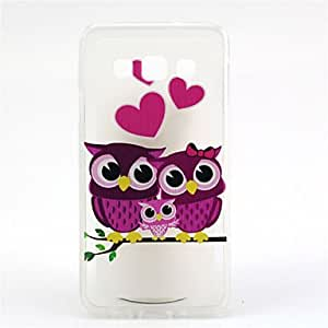 SHOUJIKE The Family of Owl Pattern Ultrathin TPU Soft Back Cover Case for Samsung Galaxy A3