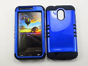 SAMSUNG GALAXY S II S2 EPIC 4G TOUCH CASE GLOSSY BLUE BK-A016-IC HEAVY DUTY HIGH IMPACT HYBRID COVER BLACK SKIN SILICON D710