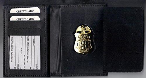 FBI-Style Badge/Dual ID/Money/Credit Card Wallet (badge/ID/etc not ()