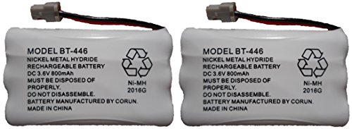 BT446 BT-446 BBTY0503001 BT-1004 BT-1005 GE-TL26402 BT-504 CPH-488B Rechargeable Cordless Telephone Battery DC 3.6V 800mAh Manufactured by Corun for ()