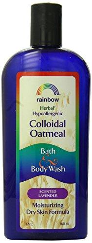 Rainbow Research Colloidal Oatmeal Bath and Body Wash Lavender, 12 Fluid Ounce