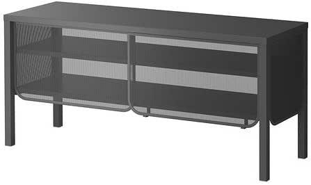 IKEA NITTORP TV-banco de madera en colour gris oscuro; (122 x 55 ...
