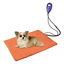 Lemonbest Safe Pet Bed Warmer Dog Cat Heated Bed Pad Blanket Cushion, Chew Resistant Cord For Small Animals, With Plug and A Free Blue Cover, Waterproof