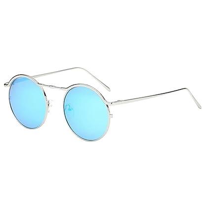 Sunday Estilo Vintage Retro Lennon Gafas de Sol Polarizadas Círculo Metálico Redondo Gafas Para Hombres y