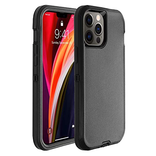 Co-Goldguard Phone Case Compatible with iPhone 12 Pro Max,Drop Protection Heavy Duty Hard 3 Layer Hybrid Strong Shockproof Drop-Proof Covers Strong Durable Shell,Black