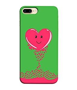 ColorKing Apple iPhone 8 Plus Case Shell Cover - Heart 003 Multi Color