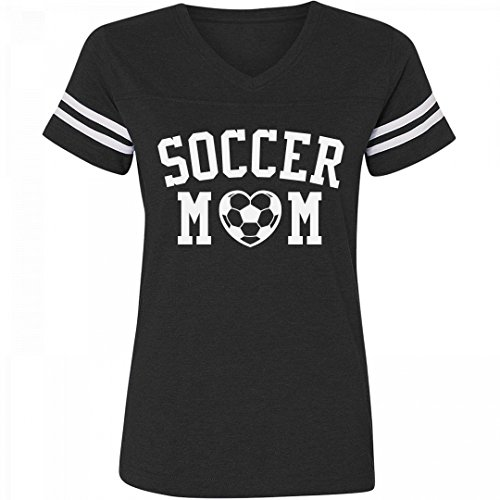 Customized Girl Soccer Mom Striped Shirt: Ladies Relaxed Fit Vintage Sports (Striped Vintage Sport Shirt)
