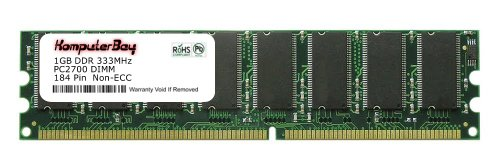 (Komputerbay 1GB DDR DIMM (184 PIN) 333Mhz DDR333 PC2700 FOR Foxconn 915G7MH-S Motherboard (DDR-400MHz) 1 GB)
