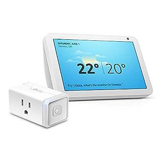 Echo Show 8 (Sandstone) Bundle with TP-Link simple set up smart plug