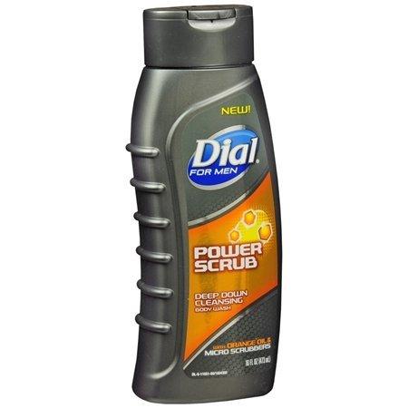 Dial for Men Body Wash, Power Scrub, 21 Fl. Oz. (Pack of 2)