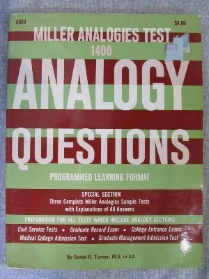 Miller Analogies Test : 1400 Analogy Questions Programmed Learning Format