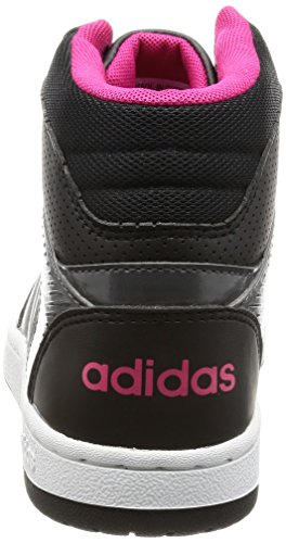 Adidas VS Hoopster Mid W Damen Sportschuhe, Schwarz–(negbas/plamat/rosfue) 44