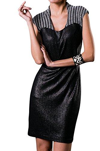 Everyday Elegance Women's Shimmer Collared Rose Cocktail Dress (Large, Black) (Sailor Outfit Ebay)