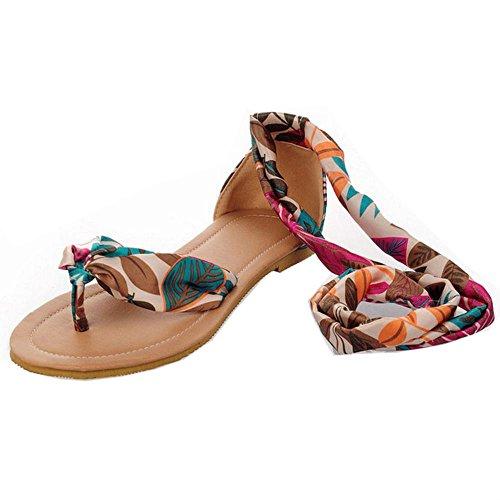 FANIMILA Mujer Moda Flip Flop Cordones Sandalias Chicas Planos Nature Breeze Zapatos Azul
