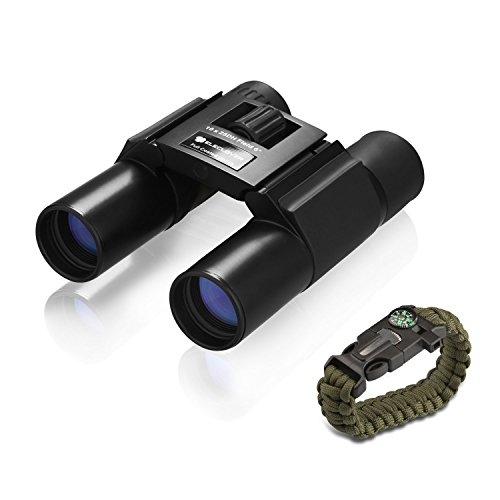 ELECLOVER 10x25 Portable High Definition Full Coated Optics with Blue Film Binoculars for Outdoor/ Hunting/ Bird Watching/ Sightseeing/ Concerts
