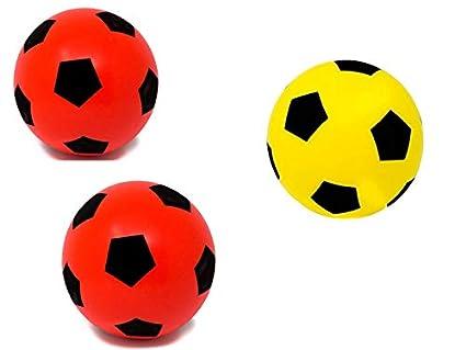E-Deals - Balón de fútbol de Espuma Suave de 20 cm, 2 de Espuma roja y