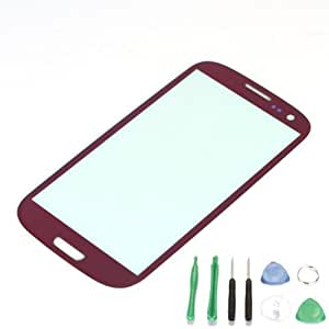 Replacement Glass for Samsung Galaxy S3 i9300 - Free TOOLS Plating Purple