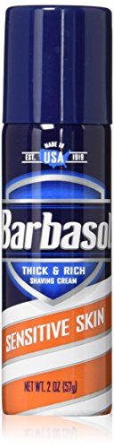 Barbasol Sensitive Shaving Travel Approved